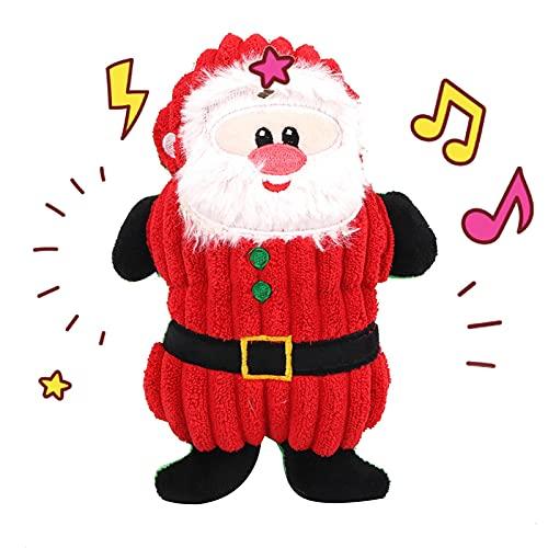 fdsfa Juguetes para perros de Navidad Santa Claus para mascotas Masticar Squeaker Juguetes de peluche para perros lindos de cuerda de mordida juguetes de sonido para fiestas de Navidad