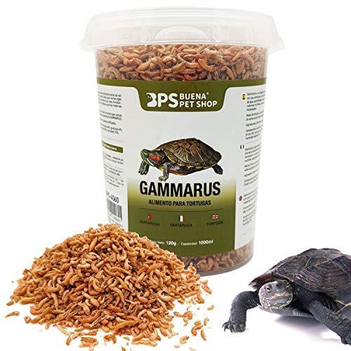 BPS Alimento Comida Gammarus para Tortugas Turtle Terrapin Food 5 Diferentes Modelos para Elegir (Gammarus Alimento 120 g) BPS-04060 ⭐