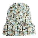 Farbe Wool Cap Warm Warm Urinal Cap Weiche Elastische Strickmütze 21 * 21Cm Buntes Weiß