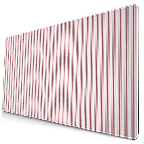 Gaming-Mauspad, Matratze, schmal, gestreift, USA-Flagge, rot und weiß, 40,1 x 74,9...