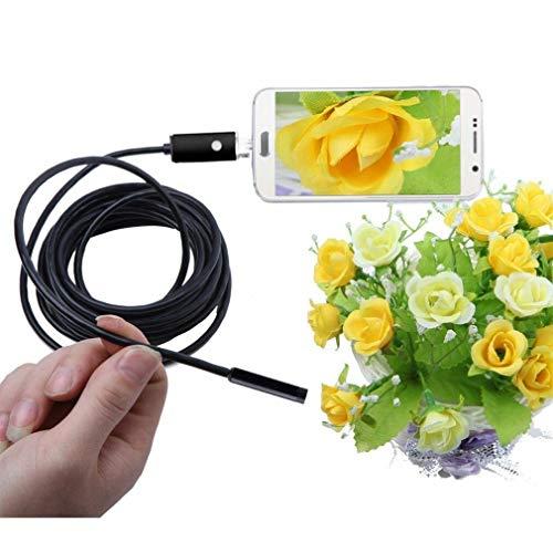 Endoscopio Android, per Android USB 2.0, Fotocamera Full HD, Telecamera Endoscopica Android Compatibile OTG & UVC, Impermeabile ipx67, Tubo per Ispezione (5M-7MM)