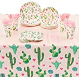 Fiesta Party Supplies, Disposable Dinnerware Set (Serves 24, 168 Pieces)