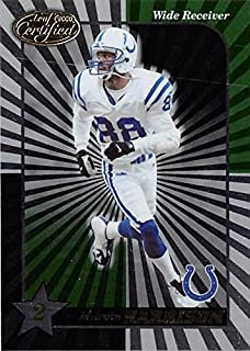 Marvin Harrison football card (Indianapolis Colts) 2000 Leaf Certified Star #123