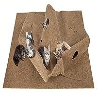 猫活動プレイマットパッド折りたたみ猫トレーニング敷物マット猫熱ベッドマット演奏毛布インタラクティブ猫のおもちゃ