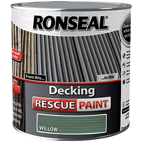 Ronseal RSLDRPW5L 5 Litre Decking Rescue Paint - Willow