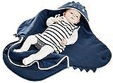 Wallaboo Einschlagdecke Universal für Babyschale, Autokindersitz, für Kinderwagen, Buggy, Babybett, Schönen Blumenform, Baumwolle, 90 x 70 cm, 0 - 12 Monaten, Farbe: Blau