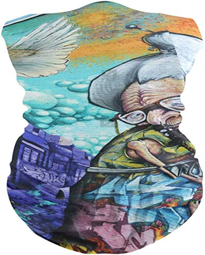 NR Street Art Grandma 2014 Montreals Kanada am 7. April in der Bandana-Männer Sturmhaube der Kopfhauben-Frauen, Halswärmer, Gesichtsmaske, Kragen-Manschette eine 4711