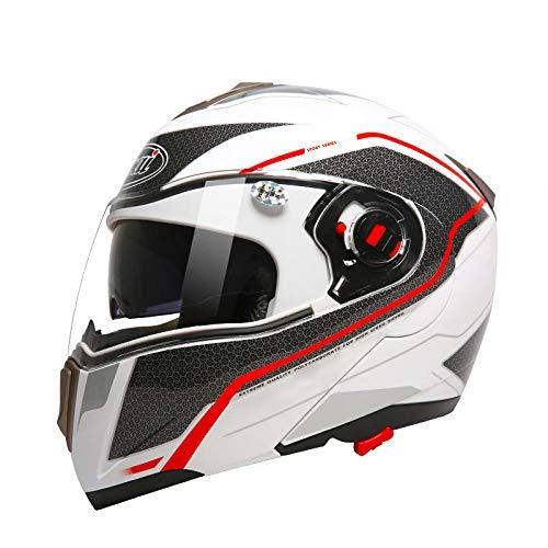 Elektrische motorhelm mannelijk batterij auto dubbele lens halve helm vrouwelijke zomer half bedekt vier seizoenen persoonlijkheid retro