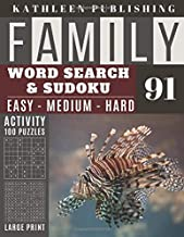 Family Word Search and Sudoku Puzzles Large Print: 100 games Activity Book Lion Fish | WordSearch | Sudoku - Easy - Medium...