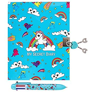 GirlZone  Unicorn Secret Lockable Kids Journal for Girls & Pen Set Great Birthday Gift for Girls