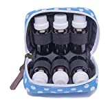 2 Pack Essential Oil Carrying Case 6 Bottles Travel Fit For Purse Makeup Bags Hold 5ml,10ml,15ml(Multiple Colors)