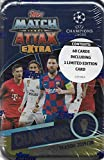 Match Attax 2019 2020 Topps Champions League Soccer Sealed Extra Edition Champions Mega Collectors Tin with a Limited Edition Mohamed Salah Gold Card