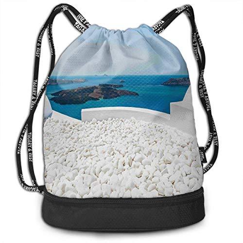 werert Hotel White Stones Long Lasting Drawstring Bag Gym Bag Sporttasche für Männer und Frauen
