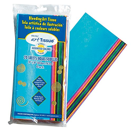 Pacon ART TISSUE PAPR 20X30 20SHT.ASSRT.COLRS, Multicolor 20 Each Set