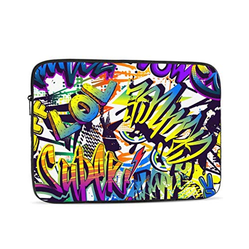 Laptop Pro Accessories Hip-hop Street Paintings MacBook Pro Hard Cover Multi-Color & Size Choices 10/12/13/15/17 Inch Computer Tablet Briefcase Carrying Bag