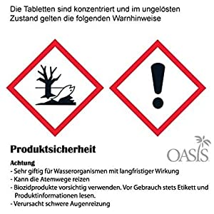 Oasis Wasserreinigungstabletten Rudergerät Vorteilspack 3X 10 Chlortabletten für Waterrower + LevinQ Handschuhe, Gegen Algen, Jahresbedarf, Puritabs, Entkeimungsmittel Wasser Rower - LevinQ