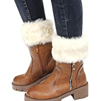 Faybox Women Winter Faux Fur Boot