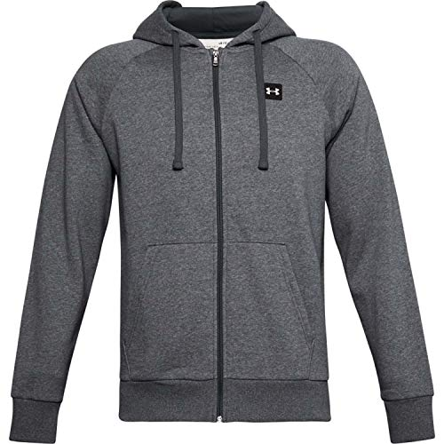 Under Armour Rival Fleece, Sudadera Hombre, Pitch Gray Light Heather / Onyx White, L