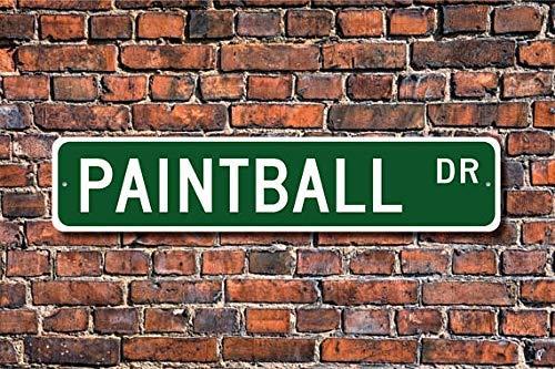 BCTS Paintball-Schild, Paintball-Fan, Paintball-Spieler, Paintball-Geschenk, Team-Shooting, Sport, Outdoor, Straßenschild, U-Bahn-Schild, 10,2 x 40,6 cm