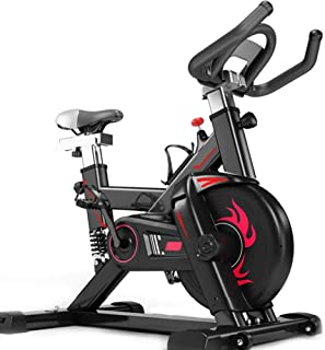 Stationary Exercise Bike Indoor Cycling Bike Fitness Stationary All-Inclusive Flywheel Bicycle with Resistance for Gym Hom...