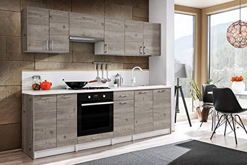 Tarraco Comercial Muebles de Cocina Completa Bona Roble Nelson 240 cm