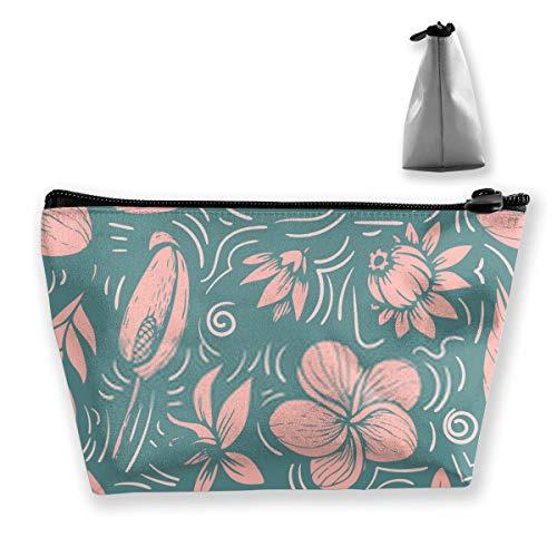 Beau motif tropical lumineux avec banane Syngonium et DrOrganizer Sac de rangement portable pour cosmétiques, pinceaux de maquillage, trousse de toilette
