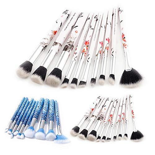 Delighted 10Pcs Soft Makeup Brushes Set Blue Eye Shadow Foundation Powder Brush - 01#
