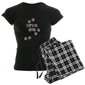 CafePress Yorkie Mom Wh Pajamas Womens Novelty Cotton Pajama Set, Comfortable PJ Sleepwear