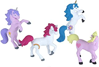 Wild Republic Unicorn Polybag, Kids Gifts, Unicorn Party Supplies, Girls Toys, Horse Toys, 4Piece