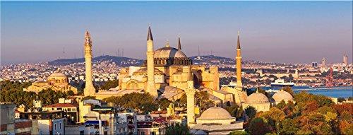 artissimo, Glasbild, 80x30cm, AG3340A, Istanbul, Türkei, Bild aus Glas, Moderne Wanddekoration aus Glas, Wandbild Wohnzimmer modern