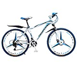 26 inch Aluminum Road Bike, 21 Speed 700c, Non-Slip Dual Disc Brakes,Suspension Bikes for Adults and Teens,Red