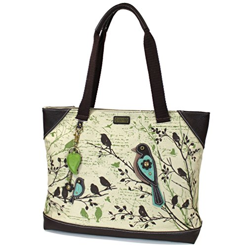 Chala Safari Forest Canvas Handbags Collection (Large Tote- 912) (Bird)