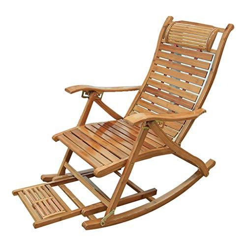 Household Necessities/ligstoel voor senioren, vrije tijd, tuinstoel, lunchpauze, balkonstoel, klapstoel, elderly stoel, binnenbed, 180 kg B Houtkleur.