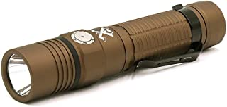 ThruNite TC15 Customized Edition with The Outsider Handheld Flashlight, 2300 High Lumens Ultra-Bright USB Rechargeable LED Flashlight with IMR 18650 Battery included, CREE XHP 35 LED, Millitary Tan CW