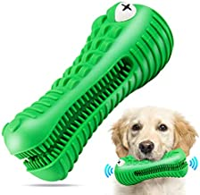 Dog Chew Toys for Aggressive Chewers Large Breed, RexSoul Dog Toothbrush & Squeaker Chew Toys, Reduces Plaque & Tartar Teeth Cleaning Play Toys Tough Tear-Resistant Durable Dog Toys (Green)