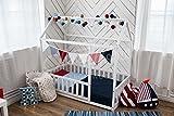 cama montessori infantil casita, el color blanco (160x80cm)