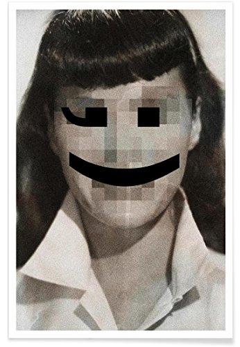 Juniqe® Affiche 80x120cm Célébrités Pop Art - Design Retro Pop Emoticons Betty (Format : Portrait) - Poster, Tirages d'art & Tableaux par des Artistes indépendants créé par Butcher Billy