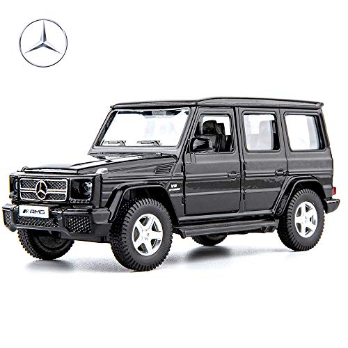 TGRCM-CZ 1:36 Scale Benz G63 Car Model Kits to Build for Kids,Alloy Pull Back Vehicles Toy Car for Toddlers Kids Boys Girls Gift(Black)