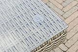 greemotion Tisch New York braun, Esstisch inklusive Glasplatte, Terassentisch für 4 Personen, Gartentisch aus hochwertigem Aluminiumgestell und Poly-Rattan, witterungsbeständig und pflegeleicht - 8