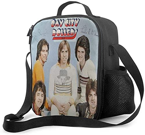 Hirola Bay City Rollers Smile - Bolsa de almuerzo para la escuela, picnic, organizador de contenedores para adultos y niños