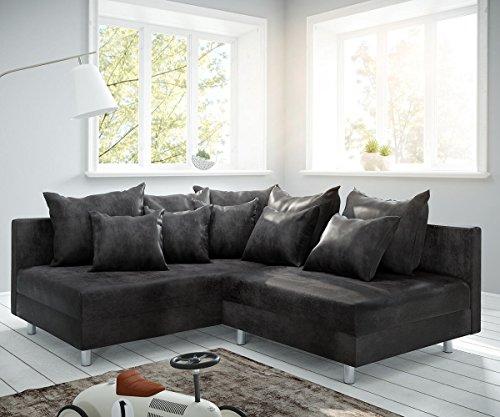 DELIFE Couch Clovis modular - Ecksofa, Sofa, Wohnlandschaft & Modulsofa (Anthrazit, Ecksofa Links)