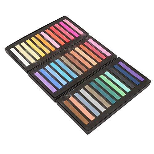 Juego de pastel suave, pasteles cuadrados Juego de pastel de artista cuadrado de tizas, no tóxico, caja de 24/12/36/48 colores surtidos(36 piezas)