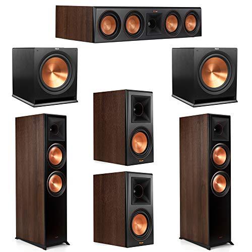 Find Bargain Klipsch 5.2 Walnut System 2 RP-8000F Floorstanding Speakers, 1 Klipsch RP-504C Center S...