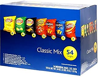 アメリカンポテトチップ Frito Lay クラシックミックス 54袋入り(54 oz) 1530g [並行輸入品]