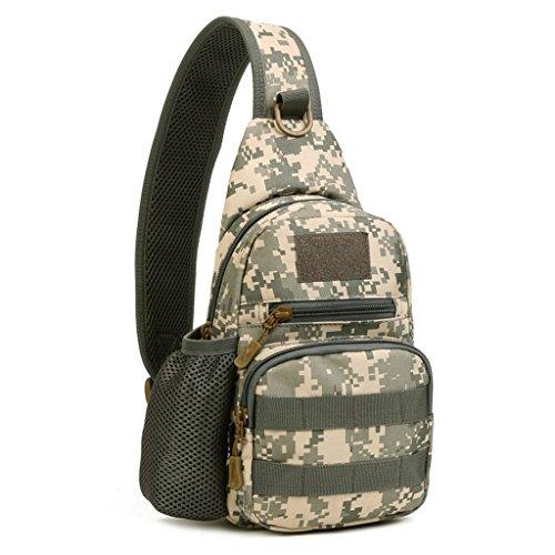YFNT Tactical Sling Petto Zaino Militare Borsa a Tracolla Crossbody Pack per Caccia Campeggio Trekking, ACU Digital