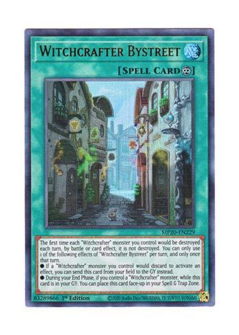 遊戯王 英語版 MP20-EN229 Witchcrafter Bystreet ウィッチクラフト・バイストリート (ウルトラレア) 1st Edition