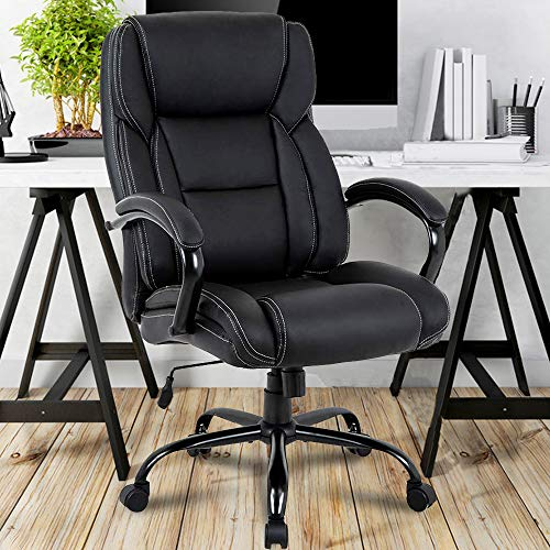 Big & Tall Executive Office Chair Heavy Duty 500LBS Computer...