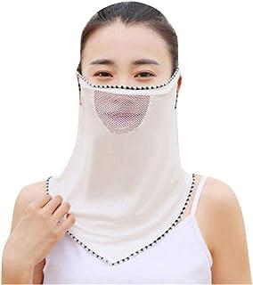 FD Izmn Women Sun Chiffon Protection Dustproof Neck Scarf Outdoor Face Flap Cover Anti Fog Bandana Balaclava
