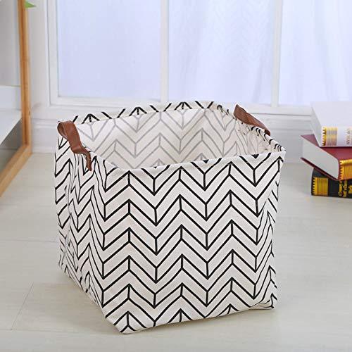 N / A Stoffkörbe für Kinderspielzeug Mode Wäsche Schmutzige Kleidung Wasserdichtes Kaninchen Aufbewahrungskorb Baumwolle Leinen Cartoon Aufbewahrungsbox 33x33x33CM
