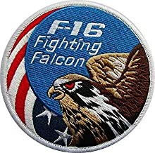 AIR Force Fighting Falcon F-16 Military Hook Loop Tactics Morale Embroidered Patch